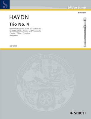 Trio Nr. 4 F-Dur - Altblockflöte Violine Cello HAYDN laflutedepan