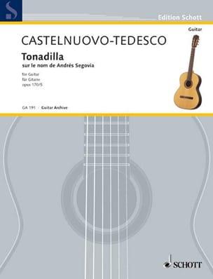 Mario Castelnuovo-Tedesco - Tonadilla, op. 170 n ° 5 - Partition - di-arezzo.co.uk