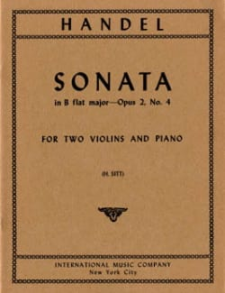 Sonata B flat major op. 2 n° 4 - Parts HAENDEL Partition laflutedepan