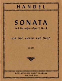 Sonata B flat major op. 2 n° 4 -Parts HAENDEL Partition laflutedepan