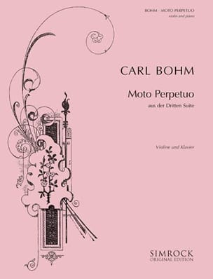 Moto Perpetuo Carl Böhm Partition Violon - laflutedepan