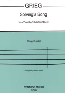 Solveig's Song - String Quartet GRIEG Partition laflutedepan