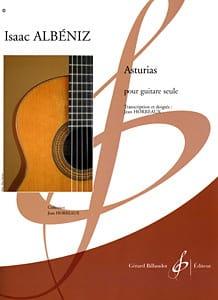 Asturias Horreaux ALBENIZ Partition Guitare - laflutedepan