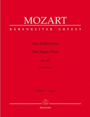 Die Zauberflote - Ouvertüre KV 620 - Partitur MOZART laflutedepan