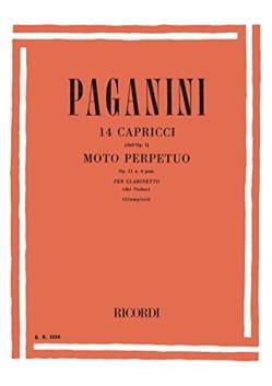 14 Caprices / Moto perpetuo - Clarinette PAGANINI laflutedepan