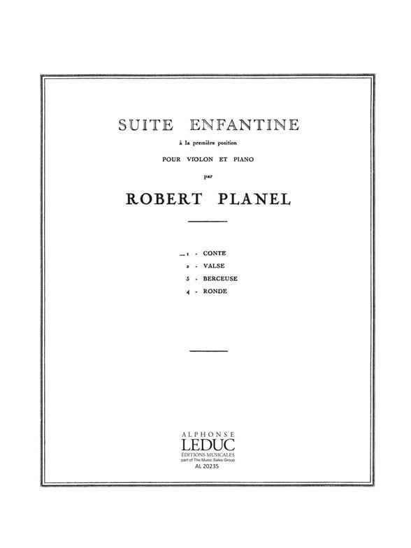 Suite enfantine - n° 1 : Conte - Robert Planel - laflutedepan.com