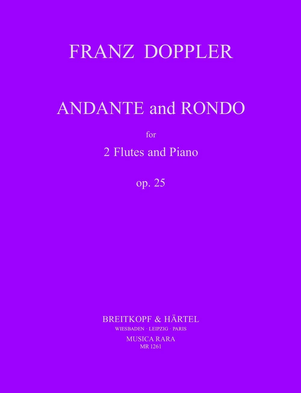 Andante and Rondo op. 25 - Franz Doppler - laflutedepan.com