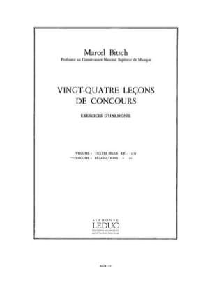 24 Lecons De Concours - Marcel Bitsch - Partition - laflutedepan.com