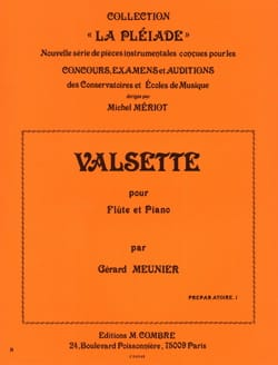 Valsette Gérard Meunier Partition Flûte traversière - laflutedepan