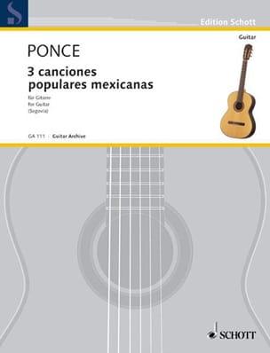 3 Canciones populares mexicanas Manuel Maria Ponce laflutedepan