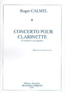 Concerto pour clarinette Roger Calmel Partition laflutedepan