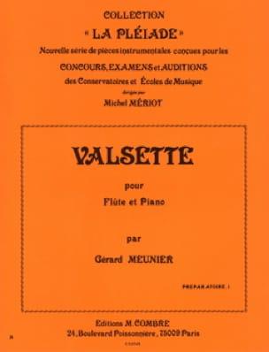 Valsette - Gérard Meunier - Partition - laflutedepan.com
