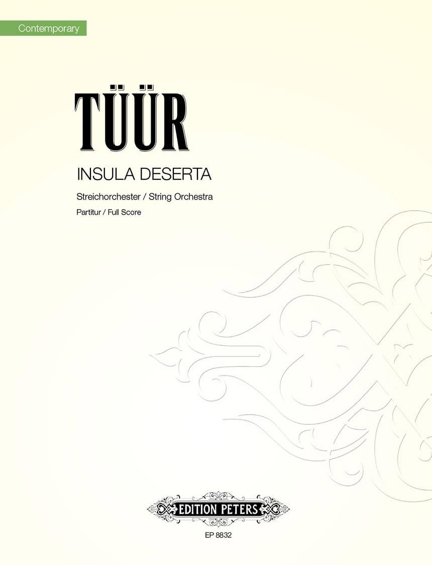 Insula deserta - Partitur - Erkki-Sven Tüür - laflutedepan.com