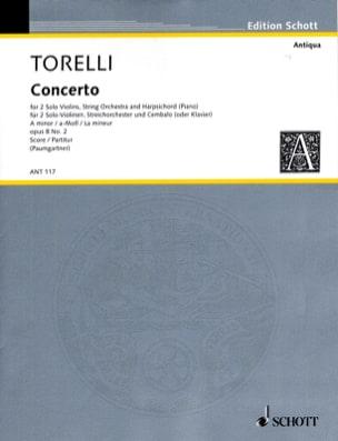 Concerto für 2 Violinen op. 8 n° 2 - Partitur TORELLI laflutedepan