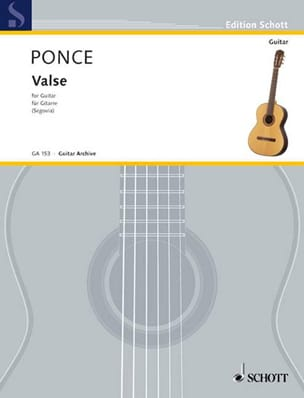 Valse Manuel Maria Ponce Partition Guitare - laflutedepan