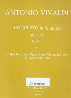 Concerto in G minor RV 105 P. 403 -Treble Recorder Oboe Violin Bassoon Bc laflutedepan