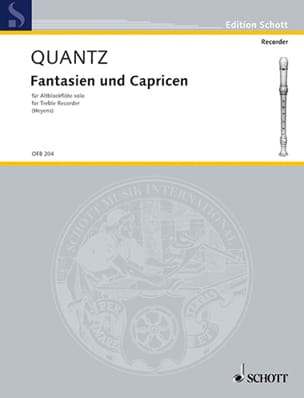 Fantasien und Capricen - Altblockflöte solo QUANTZ laflutedepan