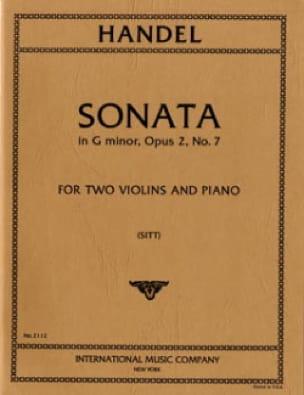 Sonata g minor op. 2 n° 7 -Parts - HAENDEL - laflutedepan.com