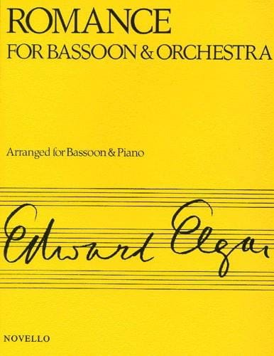 Romance op. 62 -Bassoon piano - ELGAR - Partition - laflutedepan.com