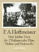 3 Leichte Trios -Stimmen HOFFMEISTER Partition Trios - laflutedepan