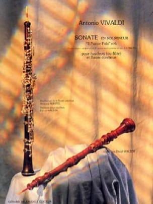 Sonate sol mineur Il Pastor Fido n° 6 - Hautbois - laflutedepan.com