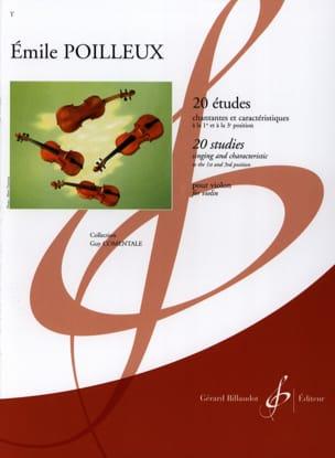 20 Etudes Emile Poilleux Partition Violon - laflutedepan