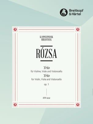 Serenade op. 1 -Stimmen Miklos Rozsa Partition Trios - laflutedepan
