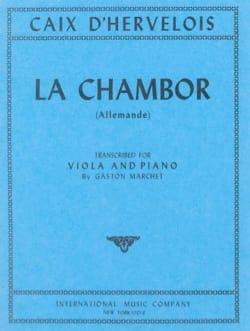La Chambor - Alto d'Hervelois Louis de Caix Partition laflutedepan