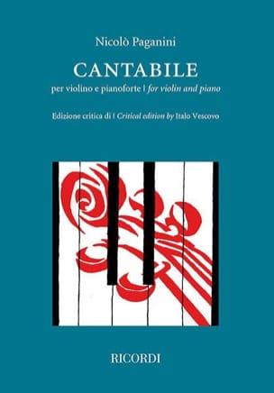 Cantabile - Violon et piano PAGANINI Partition Violon - laflutedepan