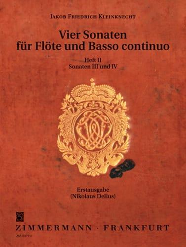 4 Sonaten - Bd. 2 - Flöte u. Bc - laflutedepan.com