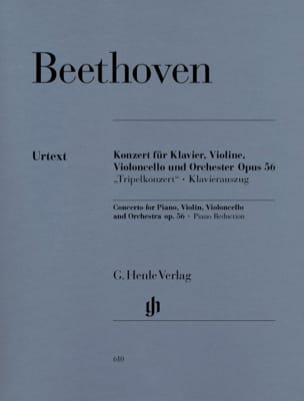 Concerto en ut majeur op. 56 pour piano, violon, violoncelle et orchestre laflutedepan