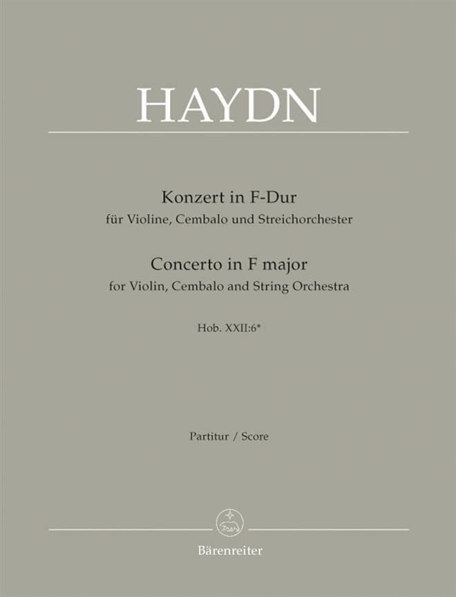 Doppelkonzert F-Dur für Violine u. Cembalo - Partitur - laflutedepan.com