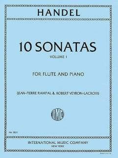 10 Sonatas - Volume 1 - Flute piano - HAENDEL - laflutedepan.com