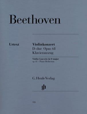 Violinkonzert D-dur op. 61 BEETHOVEN Partition Violon - laflutedepan