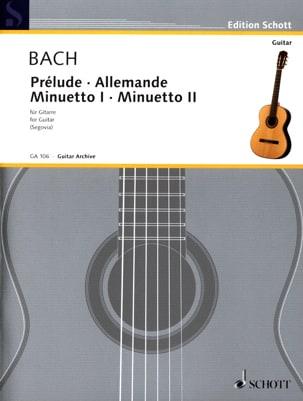 Prélude - Allemande - Minuetto 1 u. 2 -Gitarre BACH laflutedepan