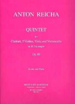 Quintet in Bb -Score + Parts REICHA Partition laflutedepan