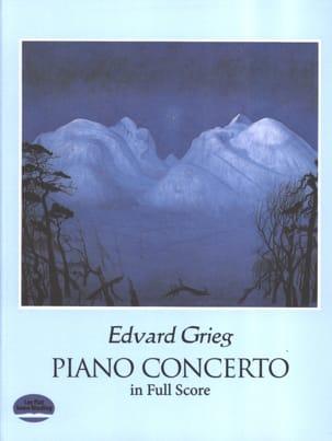 Piano Concerto Op. 16 GRIEG Partition Grand format - laflutedepan