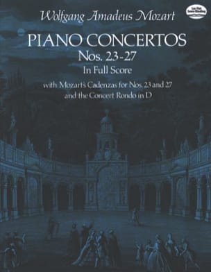 Piano Concertos N°23-27 / Full Score MOZART Partition laflutedepan