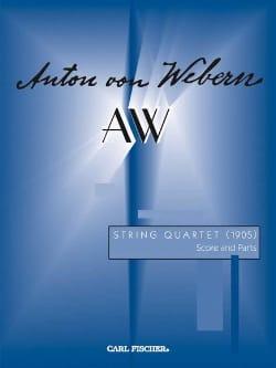 String Quartet 1905 -Score + Parts WEBERN Partition laflutedepan