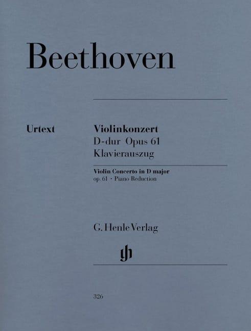 Violinkonzert D-dur op. 61 - BEETHOVEN - Partition - laflutedepan.com