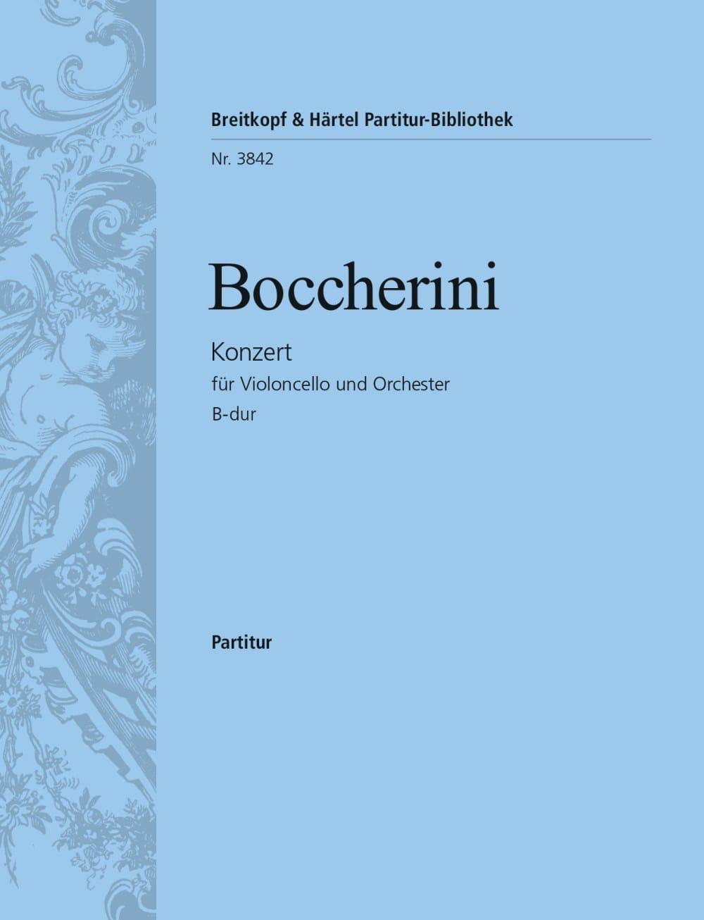 Violoncello-Konzert B-Dur - Conducteur - BOCCHERINI - laflutedepan.com