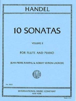 10 Sonatas - Volume 2 - Flute piano - HAENDEL - laflutedepan.com