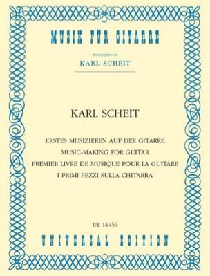Erstes Musizieren auf der Guitare Karl Scheit Partition laflutedepan