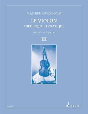 Le Violon Volume 3 Mathieu Crickboom Partition Violon - laflutedepan
