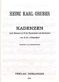Kadenzen zum Konzert in E von Dittersdorff laflutedepan