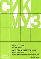 Zwei Quartette für 4 Violoncelli Nikolaj Rakow Partition laflutedepan
