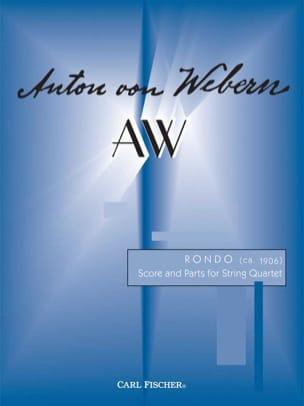 Rondo - String quartet -Score + Parts WEBERN Partition laflutedepan