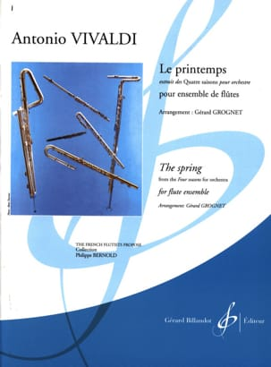 Le Printemps VIVALDI Partition Flûte traversière - laflutedepan