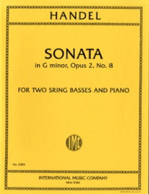 Sonata G minor op. 2 n° 8 -2 String basses piano - laflutedepan.com