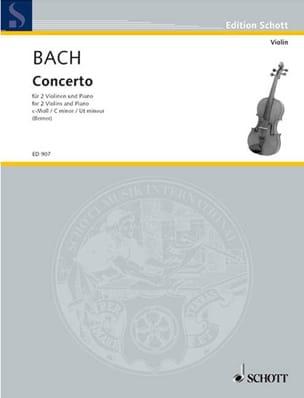 BACH - Concerto c-moll - 2 Violinen Klavier - Partition - di-arezzo.com